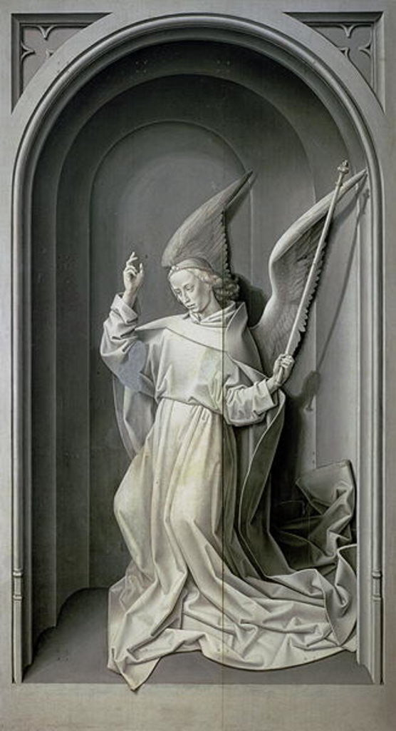 Detail of The Angel of the Annunciation by Hugo van der Goes