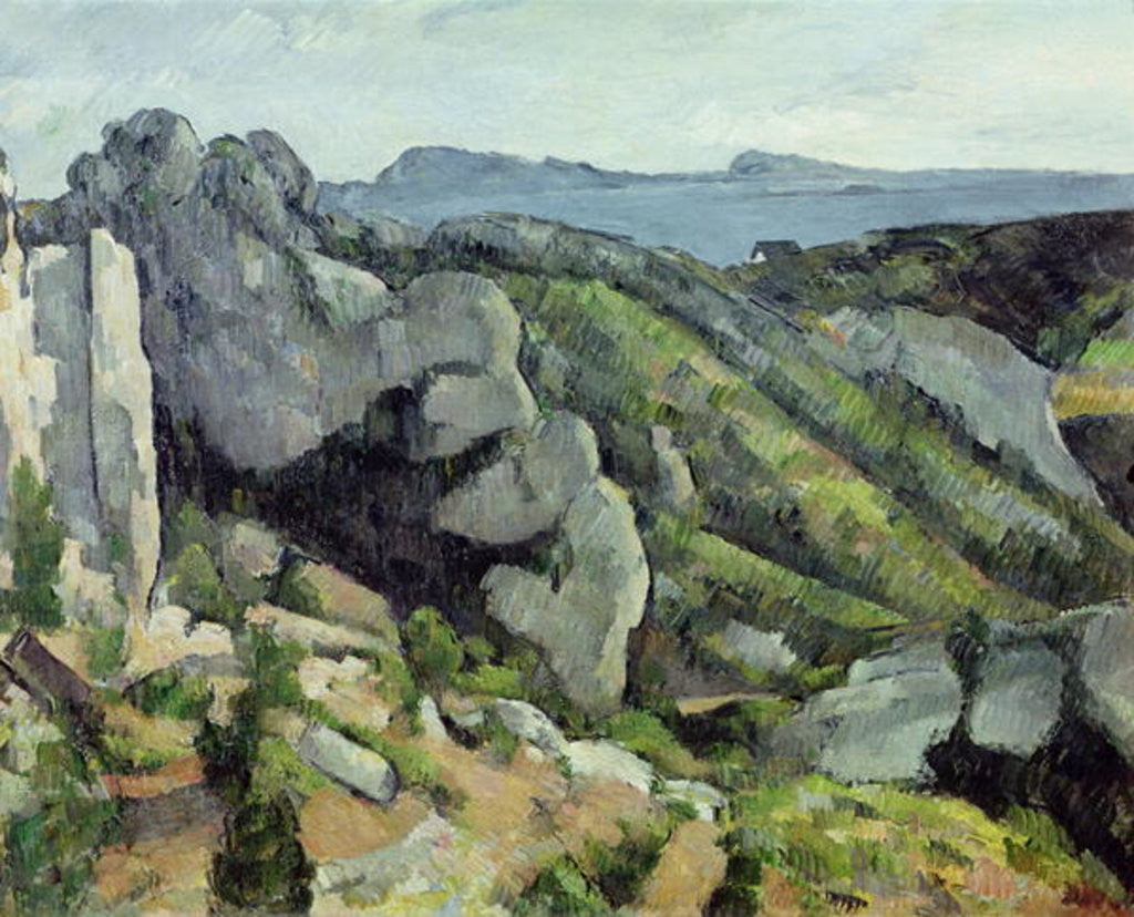 Detail of Rocks at L'Estaque by Paul Cezanne