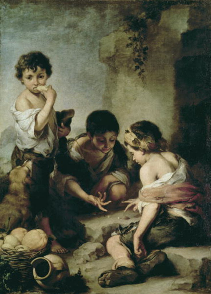 Detail of Boys Playing Dice by Bartolome Esteban Murillo