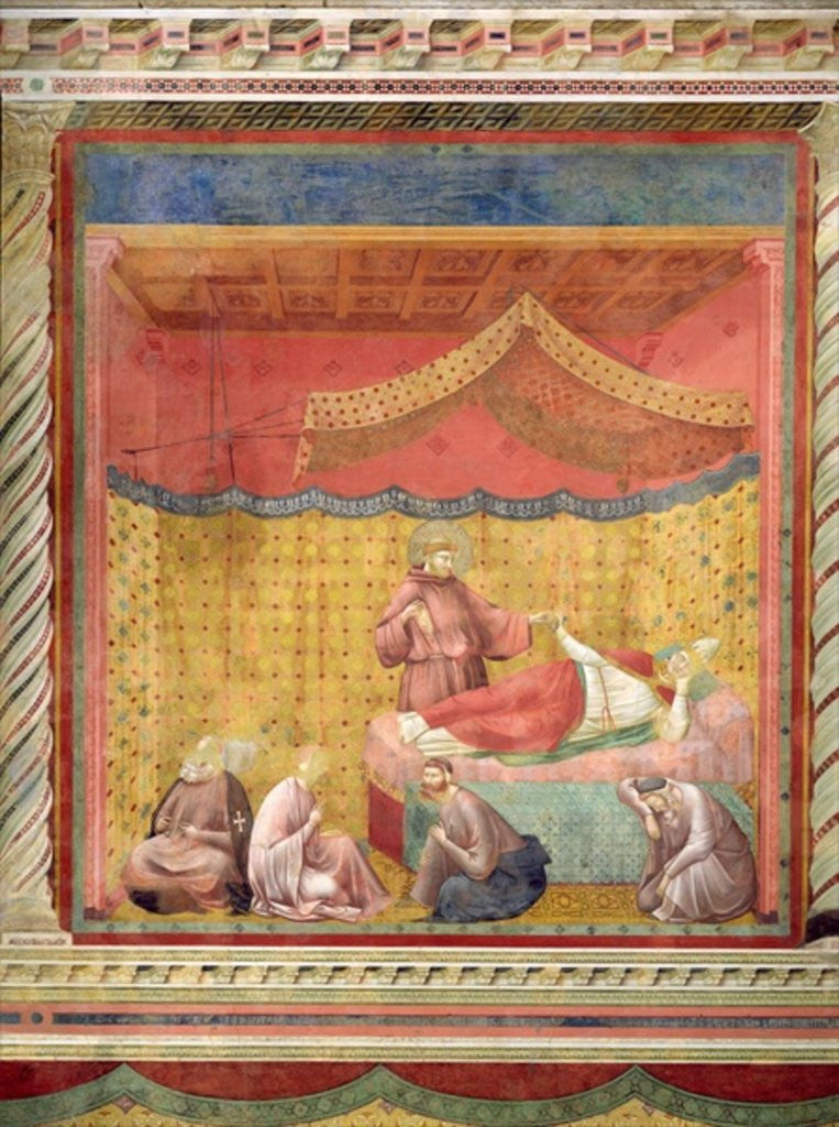 Detail of The Vision of Pope Gregory IX by Giotto di Bondone