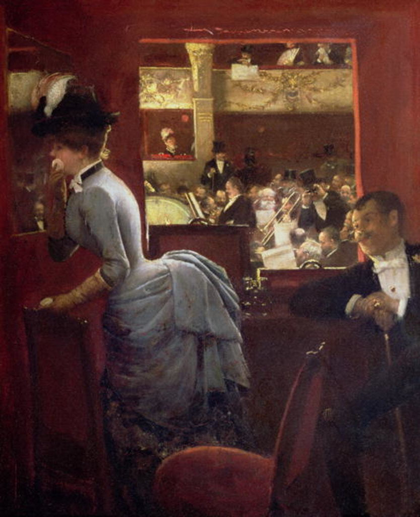 Detail of The Box by the Stalls by Jean Beraud