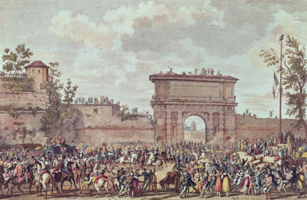 Detail of The Entry of the French into Milan, 25 Floreal An IV by Antoine Charles Horace Vernet