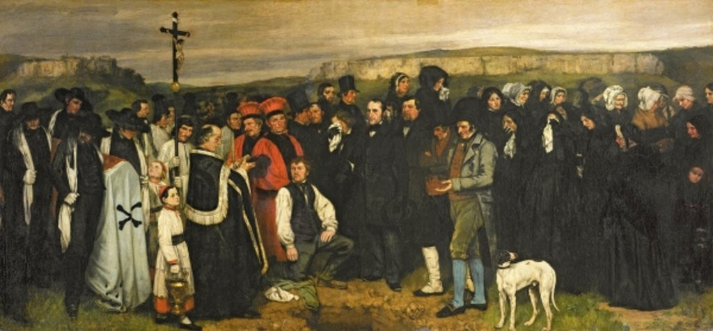 Detail of Burial at Ornans by Gustave Courbet