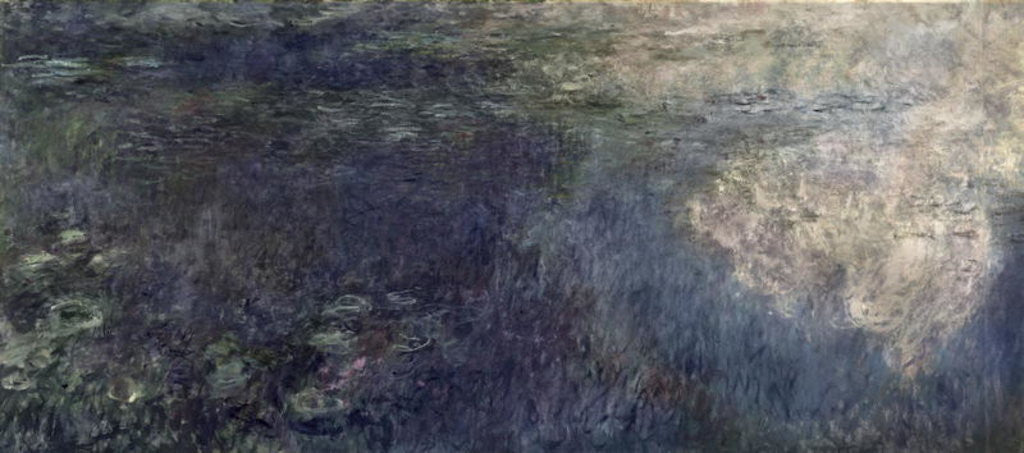 Detail of Waterlilies - The Clouds (left section) by Claude Monet