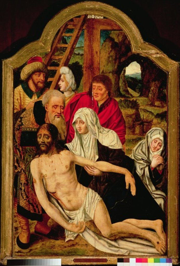 Detail of Descent from the Cross by Master of the Holy Blood