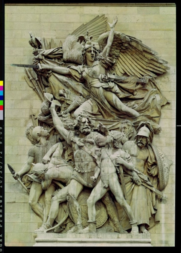 Detail of La Marseillaise, detail from the eastern face of the Arc de Triomphe by Francois Rude