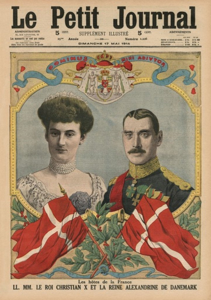 Detail of Hosts of France, King Christian X and Queen Alexandrine of Denmark by French School