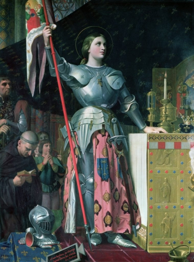 Detail of Joan of Arc at the Coronation of King Charles VII by Jean Auguste Dominique Ingres