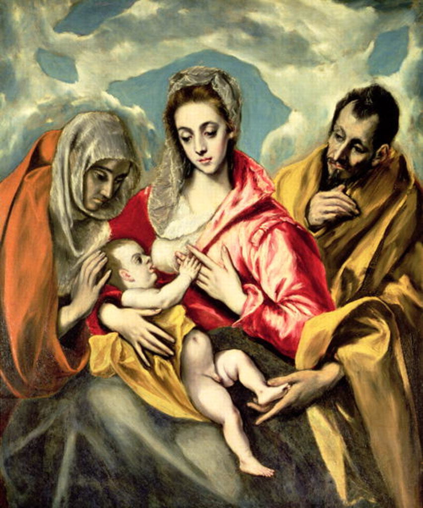 Detail of Virgin and Child with SS. Anne and Joseph by El Greco