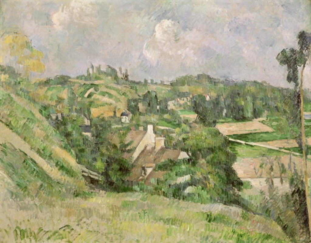 Detail of Auvers-sur-Oise, seen from the Val Harme by Paul Cezanne