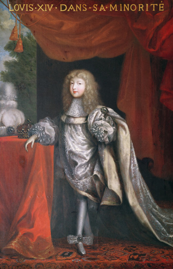 Detail of Louis XIV during his minority by Pierre Mignard