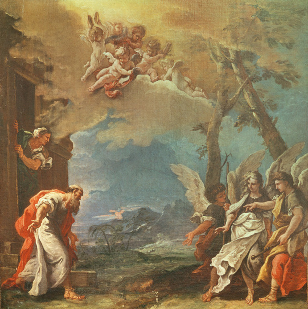 Detail of Abraham welcoming the Angels by Sebastiano Ricci
