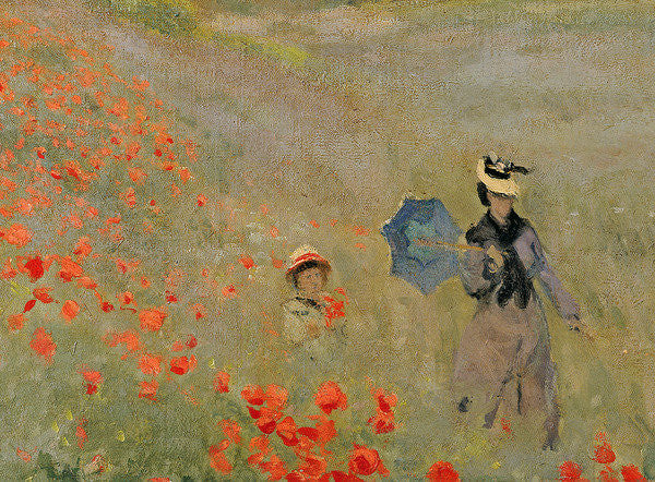 Detail of Wild Poppies, near Argenteuil by Claude Monet