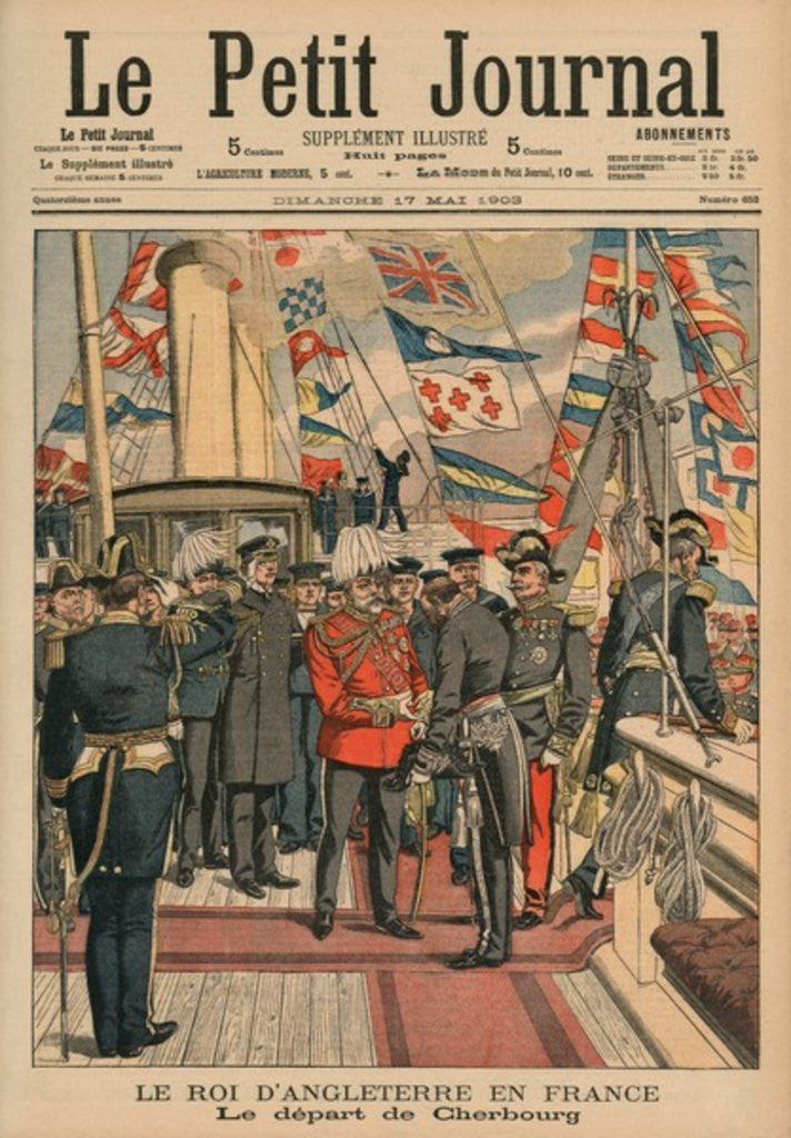 Edward VII, King of England, leaving Cherbourg