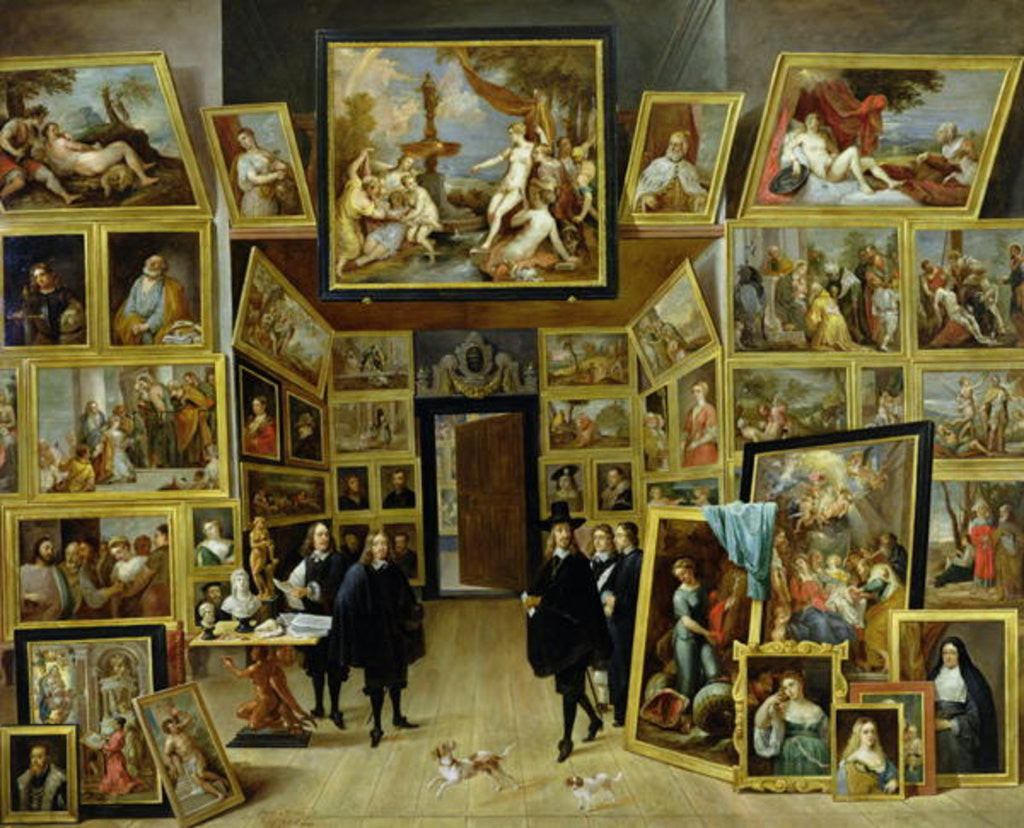 Detail of Archduke Leopold Wilhelm in his Picture Gallery by David the Younger Teniers