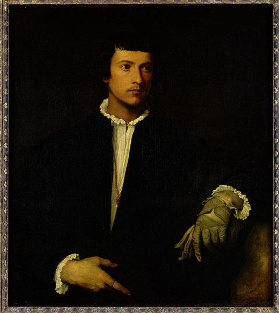 Detail of The Man with a Glove by Titian