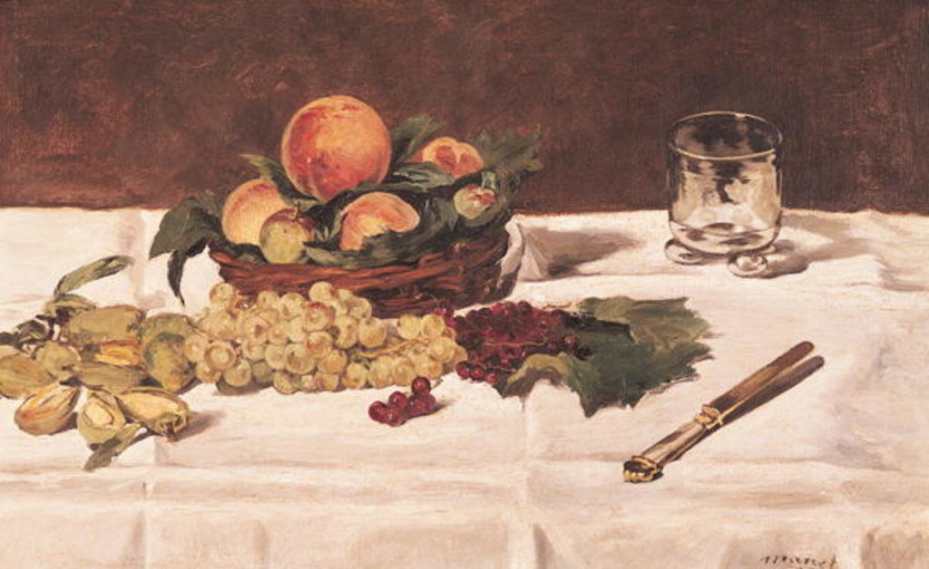 Detail of Still Life: Fruit on a Table by Edouard Manet