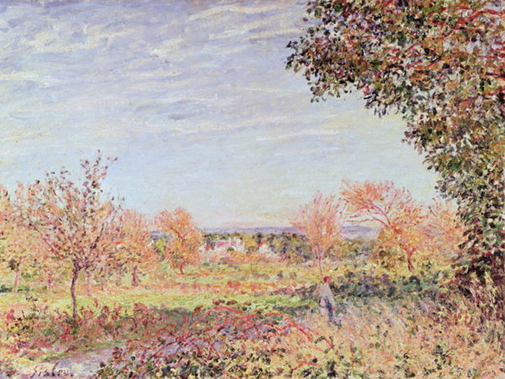 Detail of September Morning by Alfred Sisley