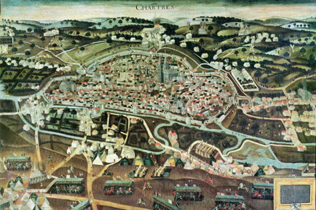 Detail of The Siege of Chartres in 1568 by French School