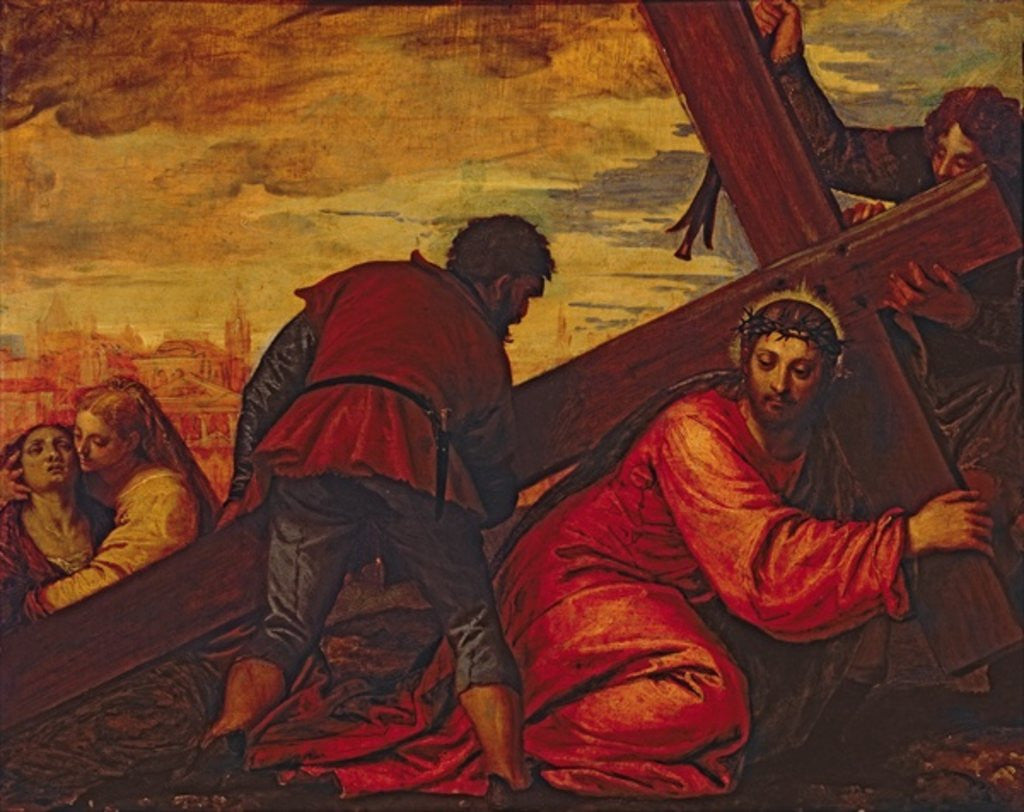 Detail of Christ Sinking under the Weight of the Cross by Veronese