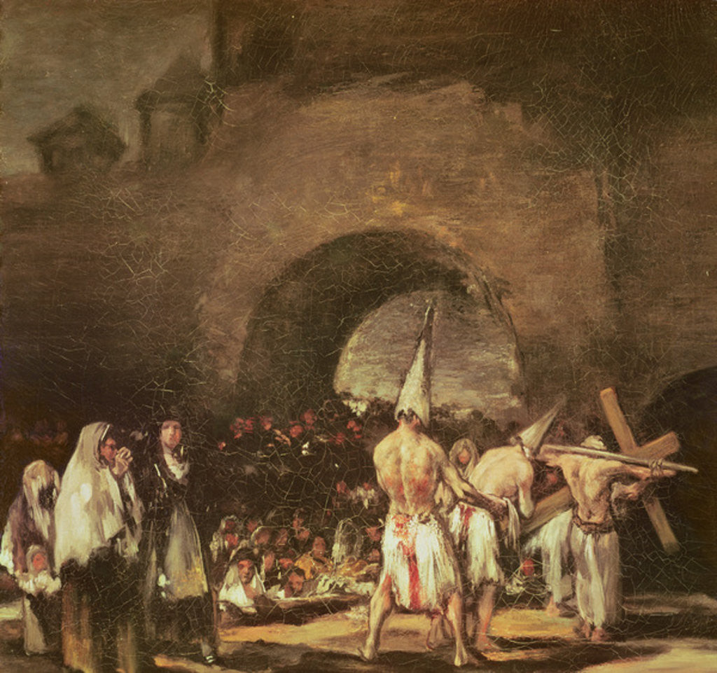 Detail of Procession of the Penitents by Francisco Jose de Goya y Lucientes
