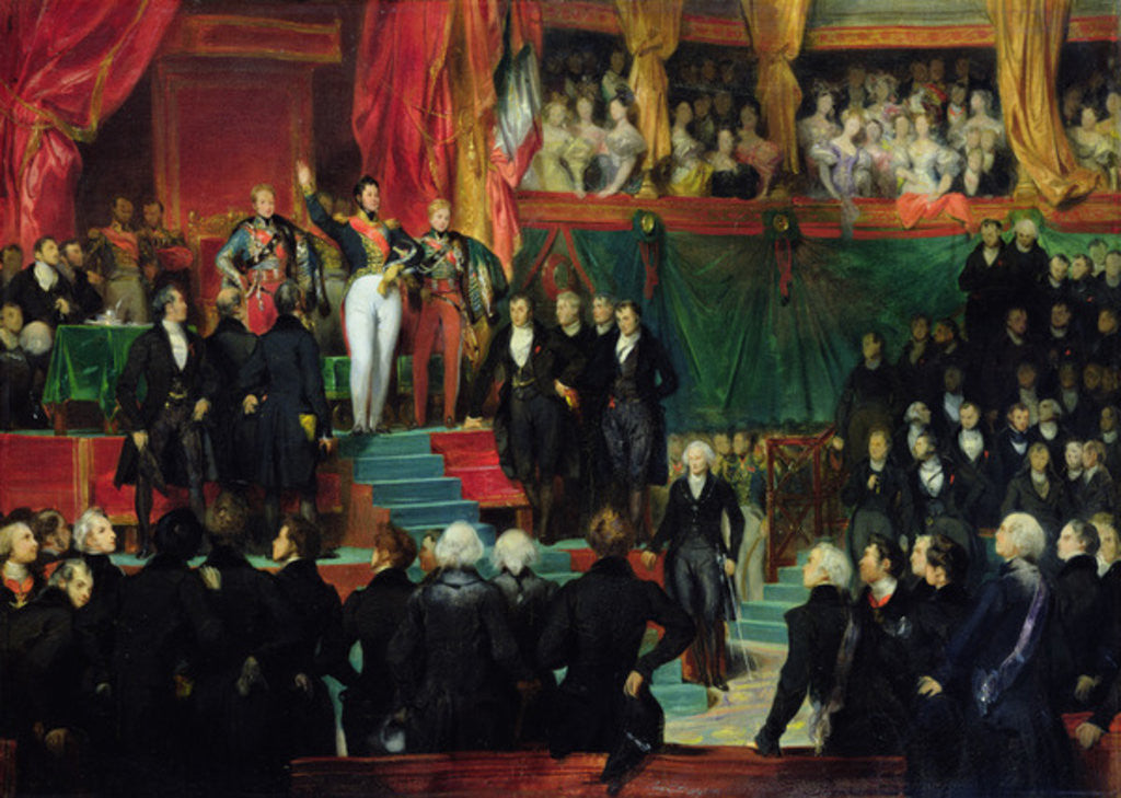 Detail of Louis-Philippe is sworn in as king before the Chamber of Deputies by Eugene Deveria