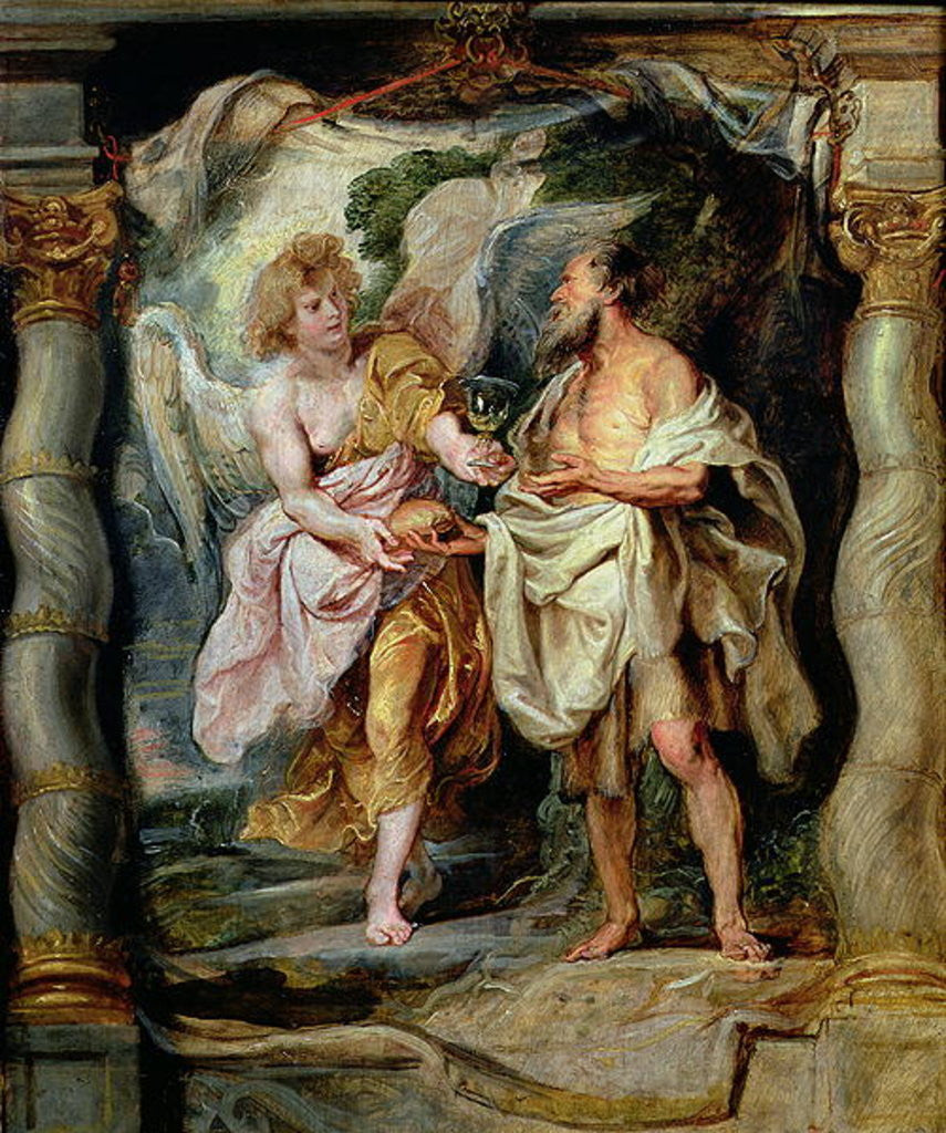 Detail of The Prophet Elijah and the Angel in the Wilderness by Peter Paul Rubens