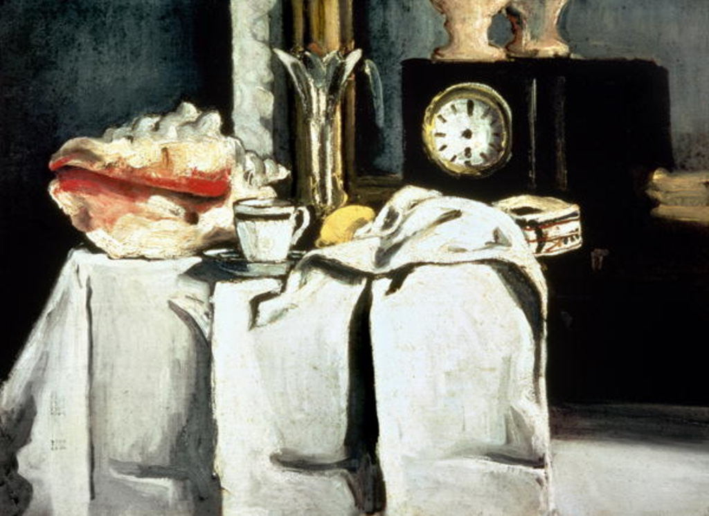 Detail of The Black Marble Clock by Paul Cezanne