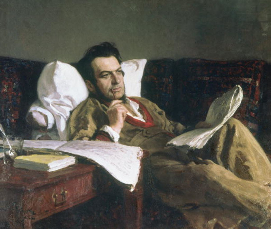 Portrait of Mikhail Glinka at the time of his composition of the opera 'Ruslan and Ludmilla'