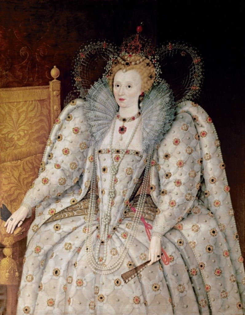 Detail of Queen Elizabeth I of England and Ireland by English School