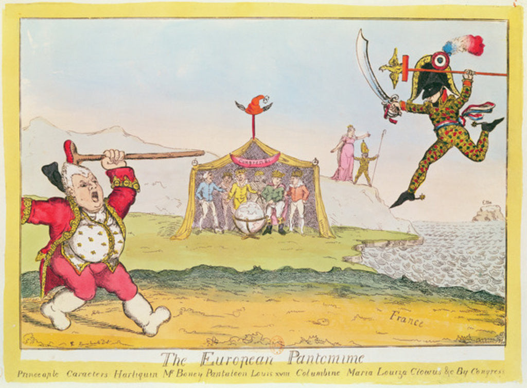 Detail of 'The European Pantomime' by English School