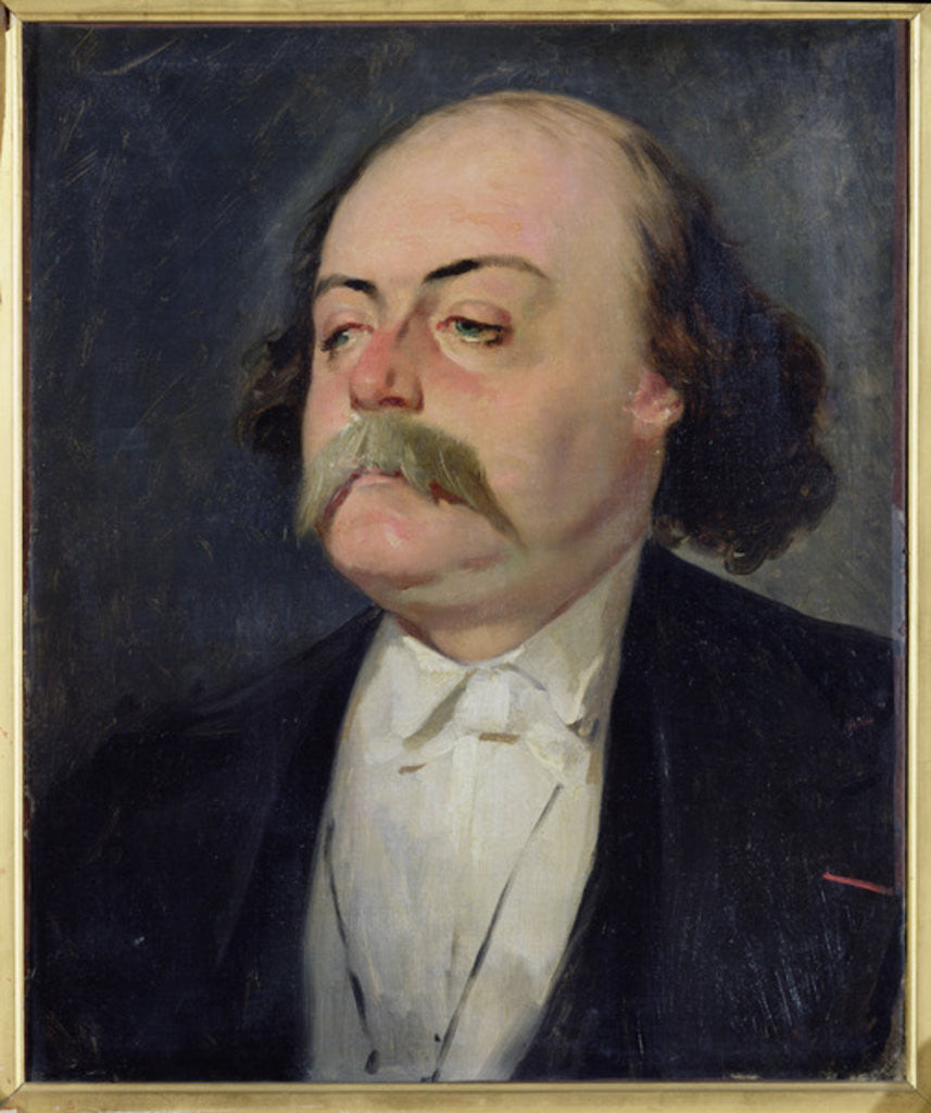 Detail of Portrait of Gustave Flaubert by Eugene Giraud