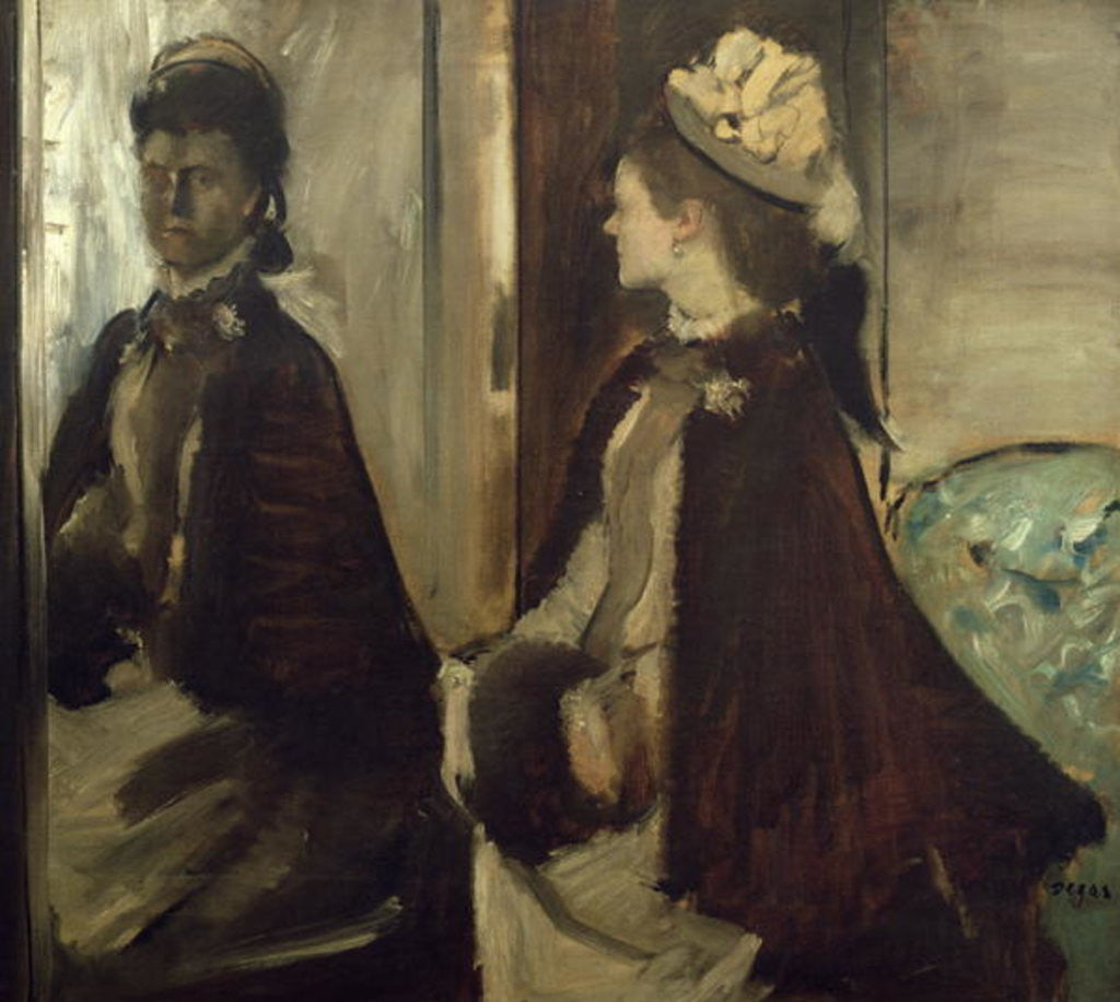 Detail of Madame Jeantaud in the mirror by Edgar Degas