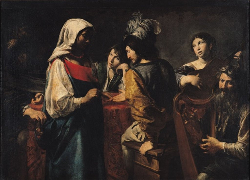Detail of The Fortune Teller by Valentin de Boulogne
