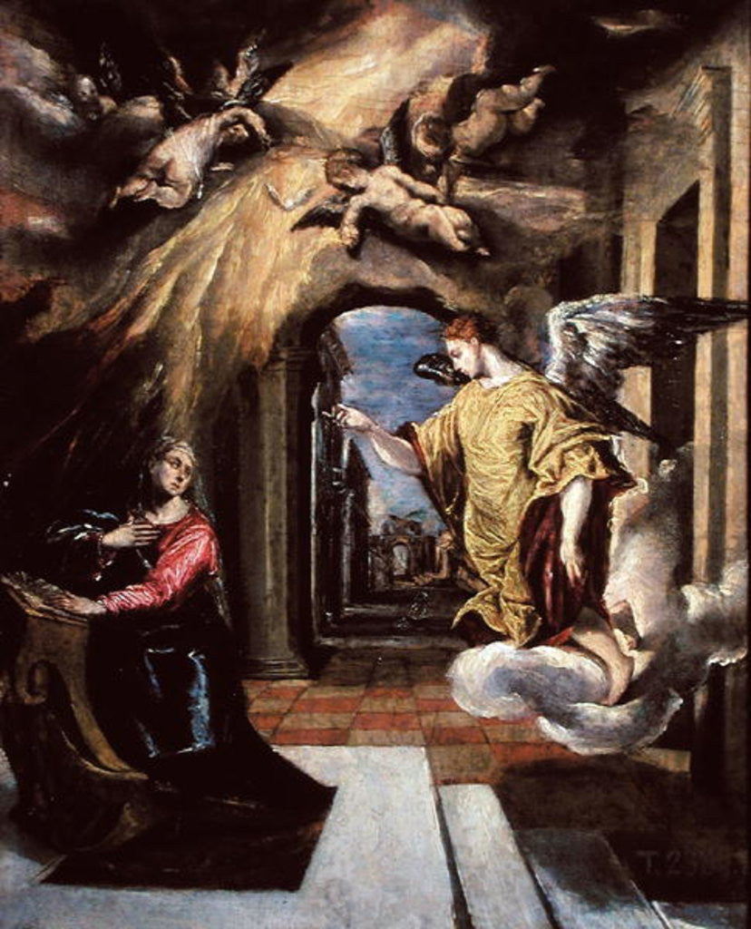 Detail of The Annunciation by El Greco