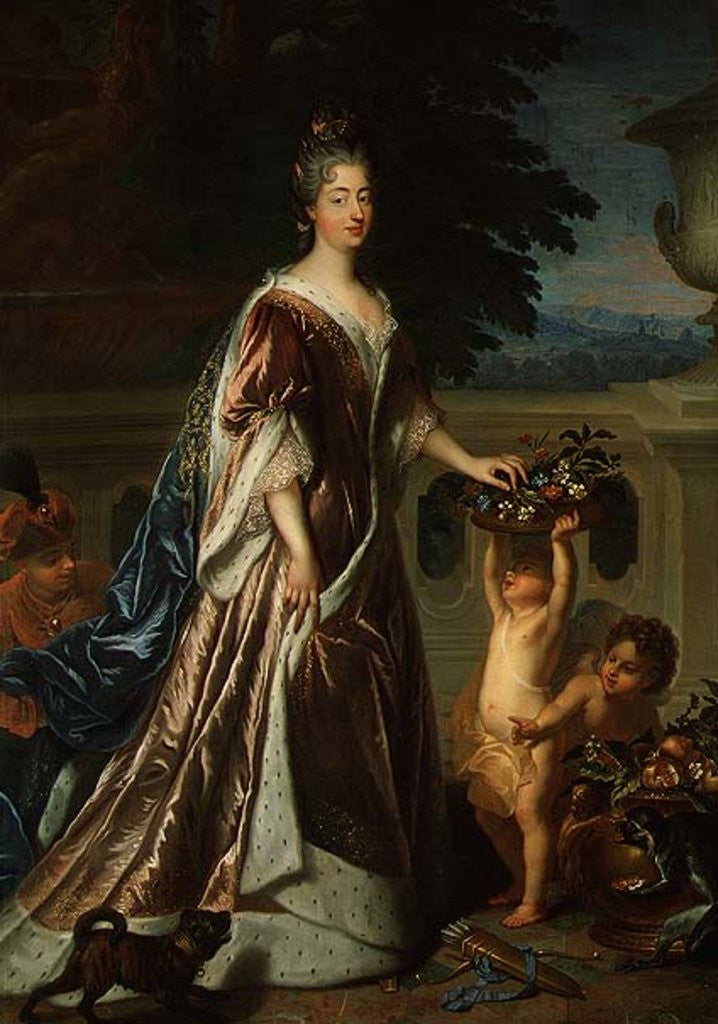 Detail of The Duchess of Maine by Francois de Troy