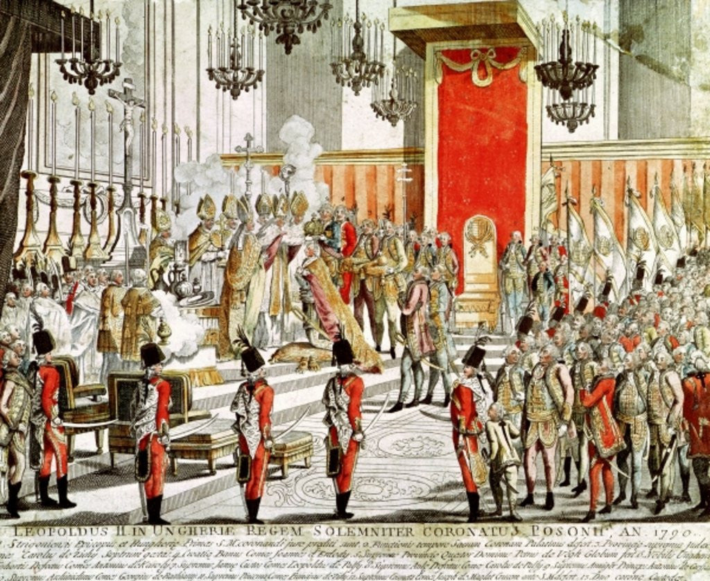 Detail of The Coronation of Leopold II at Bratislava in 1790 by Austrian School