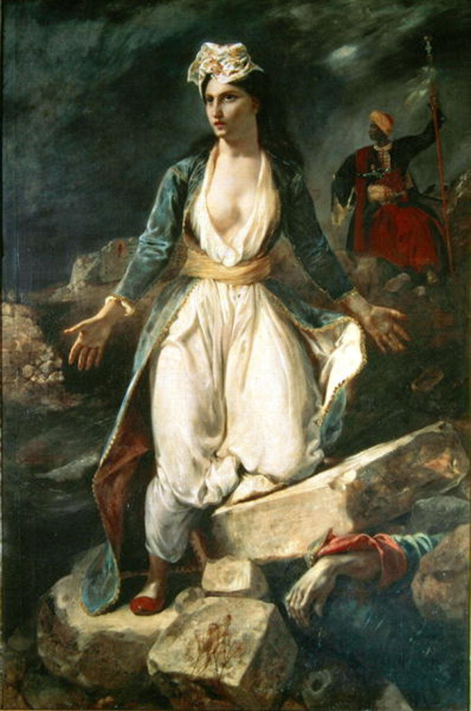 Detail of Greece expiring on the Ruins of Missolonghi by Ferdinand Victor Eugene Delacroix