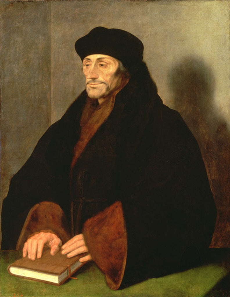 Detail of Erasmus of Rotterdam by Hans Holbein the Younger