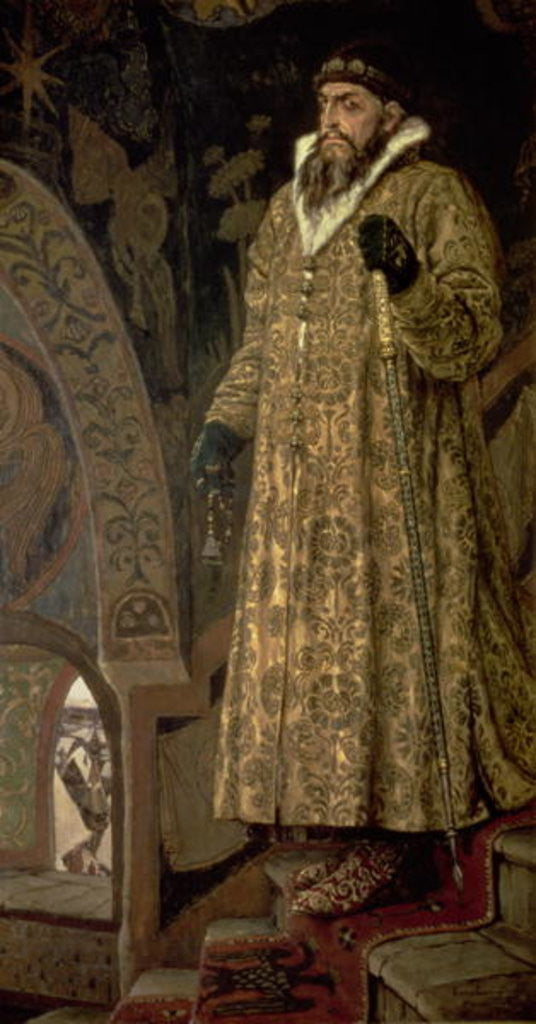 Detail of Tsar Ivan IV Vasilyevich 'the Terrible' by Victor Mikhailovich Vasnetsov