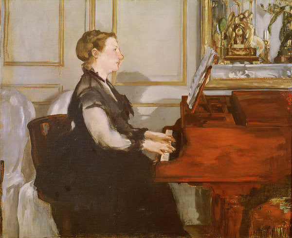 Detail of Madame Manet at the Piano by Edouard Manet