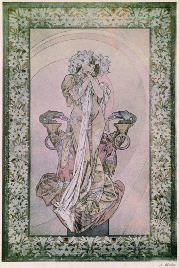 Detail of Decorative Panel for Edmond Rostand's La Princesse Lointaine with Sarah Bernhardt by Alphonse Marie Mucha