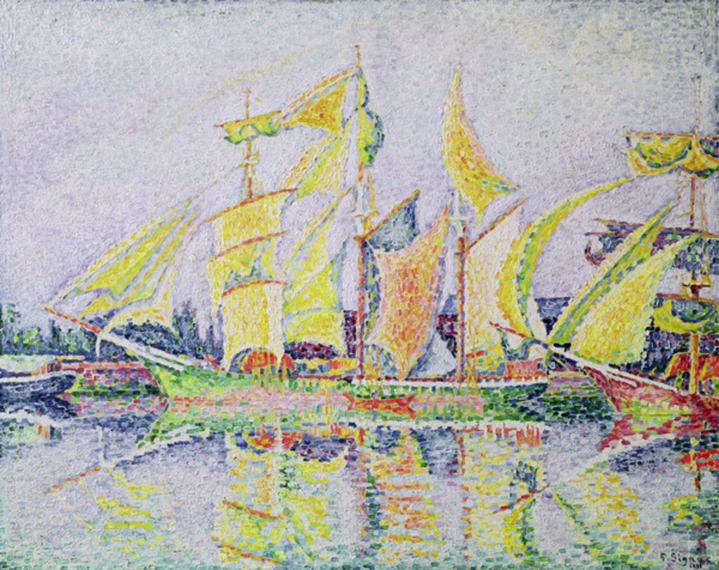 Detail of Three Yellow Masts by Paul Signac