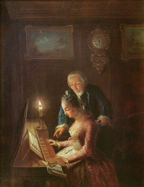 The Music Lesson by Emanuel Handmann