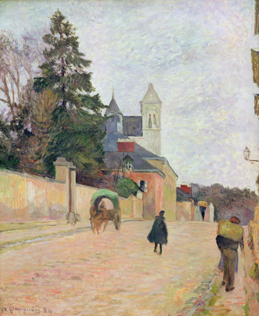 Detail of A Village Road by Paul Gauguin