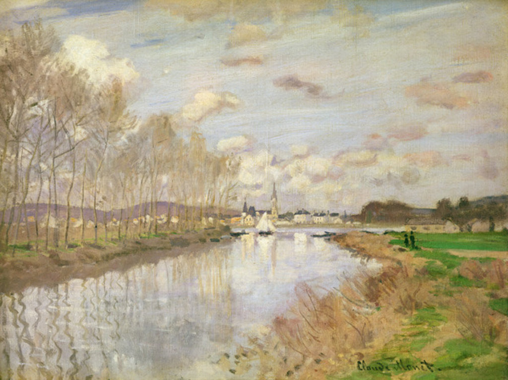 The Yacht at Argenteuil posters & prints by Claude Monet