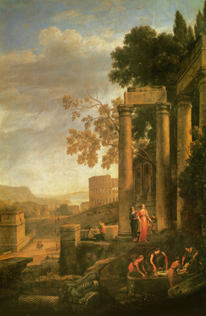 Landscape, the Burial of Saint Serapia by Claude Lorrain