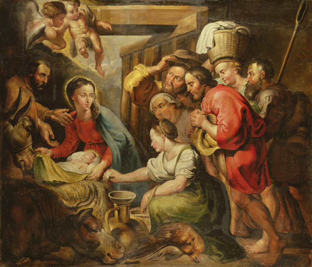 Detail of Adoration of the Shepherds by Peter Paul Rubens