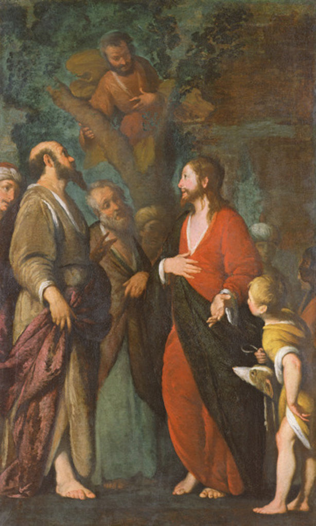 Detail of Conversion of Zaccheus by Bernardo Strozzi