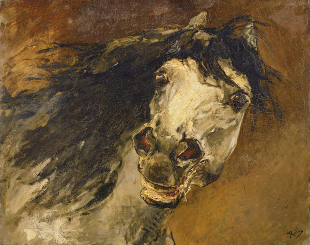 Detail of Head of a Horse by Alfred Roll